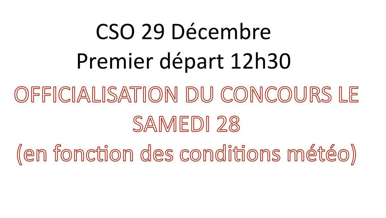 IMPORTANT : CSO 29 Janvier